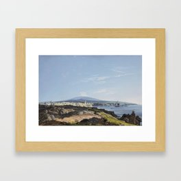 Francesco Zerillo, A View of Mount Etna and the Bay of Catania Framed Art Print