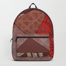 Red Scrapbook Collage Quilted Heart (Tile #6) Backpack