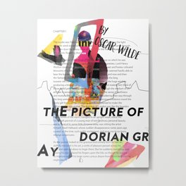 The Picture of Dorian Gray PSTR collage Metal Print