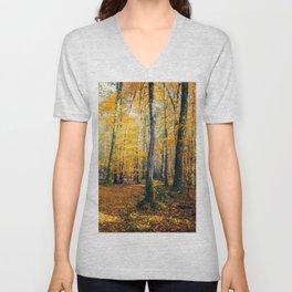 Yellow Trees Unisex V-Neck