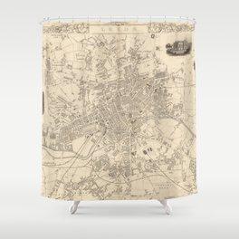 Vintage Map of Leeds England (1851) Shower Curtain