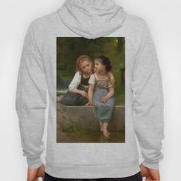 "William-Adolphe Bouguereau ""Fishing For Frogs"" Hoody"