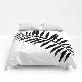 BLACK PALM LEAF Comforters