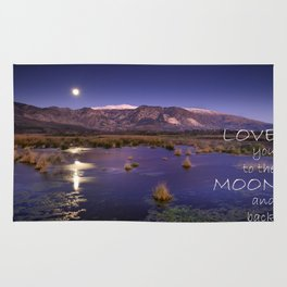 Love you to the moon and back.  Valentine's Day Rug