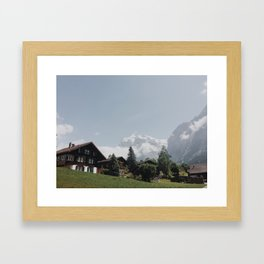 Swiss Neighborhood Framed Art Print