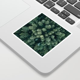Forest from above - Landscape Photography Sticker