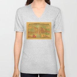 Dominican Republic and Haiti Map (1906) Unisex V-Neck