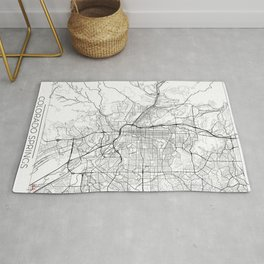 Colorado Springs Map White Rug