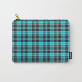 Lunchbox Blue Plaid Carry-All Pouch