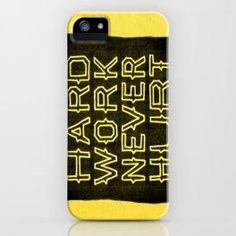 Hard Work Never Hurt iPhone Case