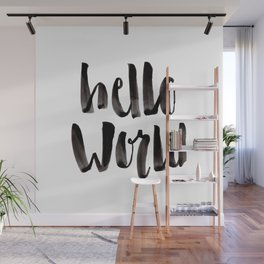 Hello World - Hand Lettering Wall Mural