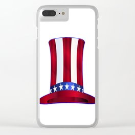 Uncle Sam's Tall Hat Clear iPhone Case