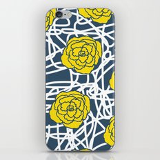 YELLOW ROSE SQUIGGLE iPhone & iPod Skin