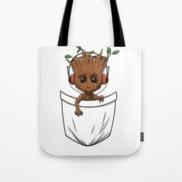 Pocket Tree Tote Bag
