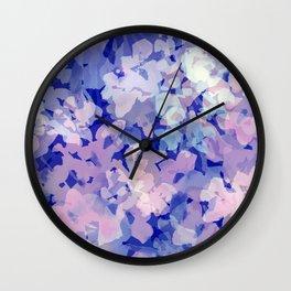 Indigo Evening Floral Wall Clock