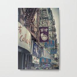 Chinatown Signage Metal Print