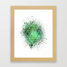 Sri Yantra Sacred Geometry Framed Art Print