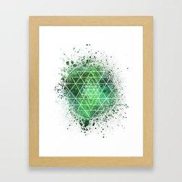 Sri Yantra Sacred Geometry Framed Art Print