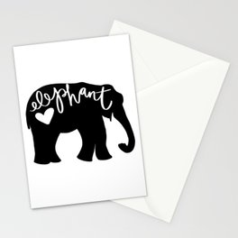 Elephant Love - Silhouette Stationery Cards