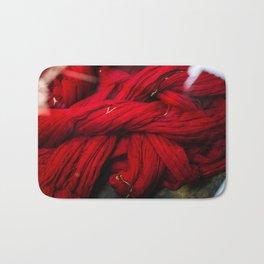 Red Dyeing Bath Mat