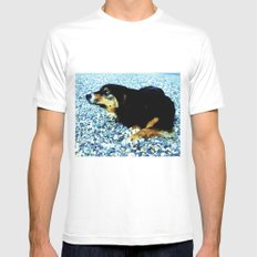 In the south with this beautiful dog. Mens Fitted Tee MEDIUM White