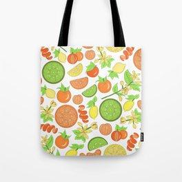 Citrus Garden Pattern Tote Bag