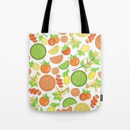 Citrus Garden Pattern Tote Bag