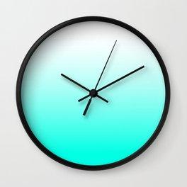 Mint Ombre Wall Clock