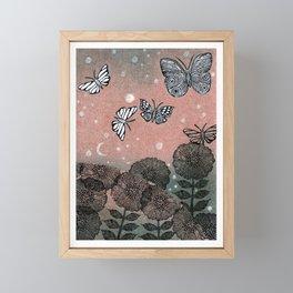 Night Garden (2) Framed Mini Art Print