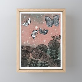 Night Garden (2) Framed Mini Art Print