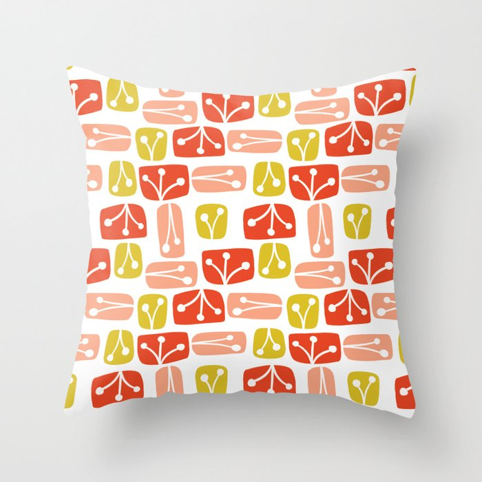 Fresh Abstract Floral Throw Pillow