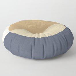 Horizon Abstract - Gold Floor Pillow