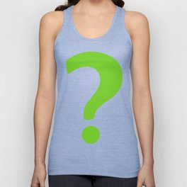 Enigma - green question mark Unisex Tank Top