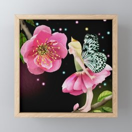 Cherry blossom fairy Framed Mini Art Print