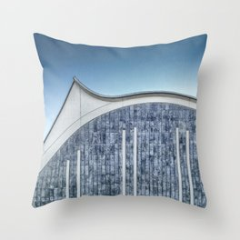 Architecture blue Throw Pillow