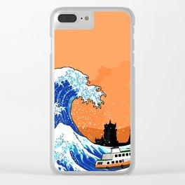 Big wave Lisbon Clear iPhone Case