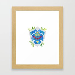 One Shield to Hyrule Them All Framed Art Print