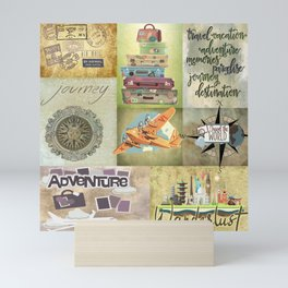 Travel Wall Word Color Blocks Mini Art Print