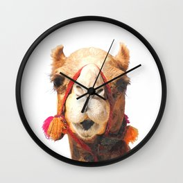 Camel Portrait Wall Clock
