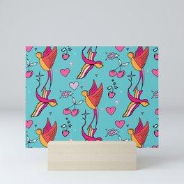 Rockabilly Swallow Mini Art Print