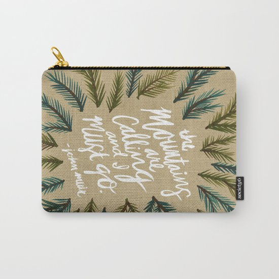 Mountains Calling – Kraft Carry-All Pouch