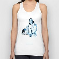 neil gaiman Tank Tops featuring Neil Armstrong Tribute by Largetosti