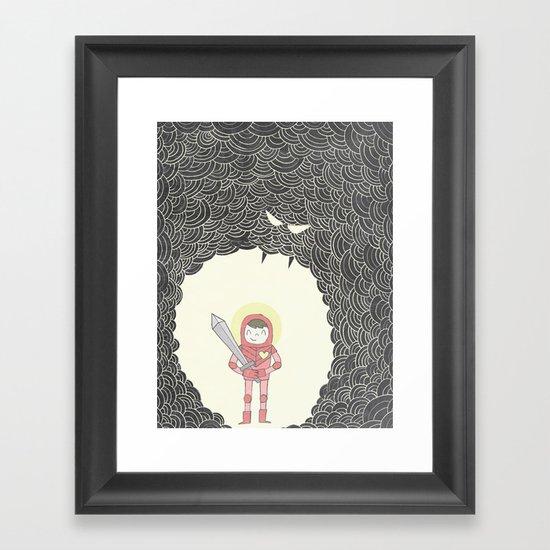 Strong Warrior Framed Art Print