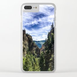 Hanging Lake Trail Clear iPhone Case