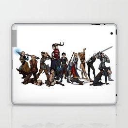 Strong female pose - Dragon Age group Laptop & iPad Skin