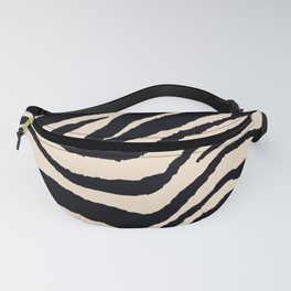 Zebra Animal Print Black and off White Pattern Fanny Pack