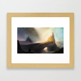 The Twin Fortresses Framed Art Print