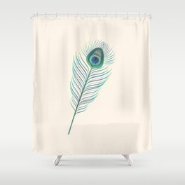 My little indian Feather Shower Curtain