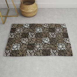 pattern of leaves and flowers Rug