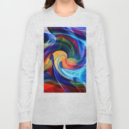 This Kiss Digital Abstract Art By Annie Zeno Long Sleeve T-shirt